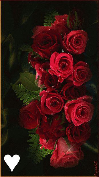 Анимационная картинка. Розы...