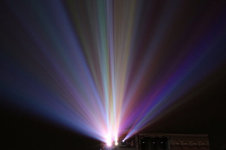 Projection mapping beam