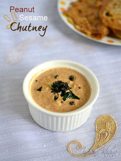 Phalahari Mungfali Til-Chutney Navratri Recipe   Peanuts Sesame Chutney ..for Fasting/Vrat/Upwas or works great idli, dosa, pongal, adai or any tiffin items.