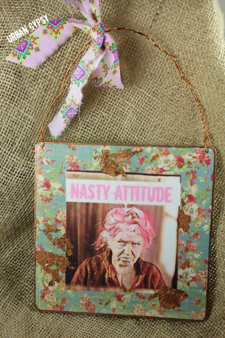 Nasty Woman Kitsch Wall Art Room Decor Mean Old Lady Home and Living Decorating Art by UrbanGypsyIndy on Etsy