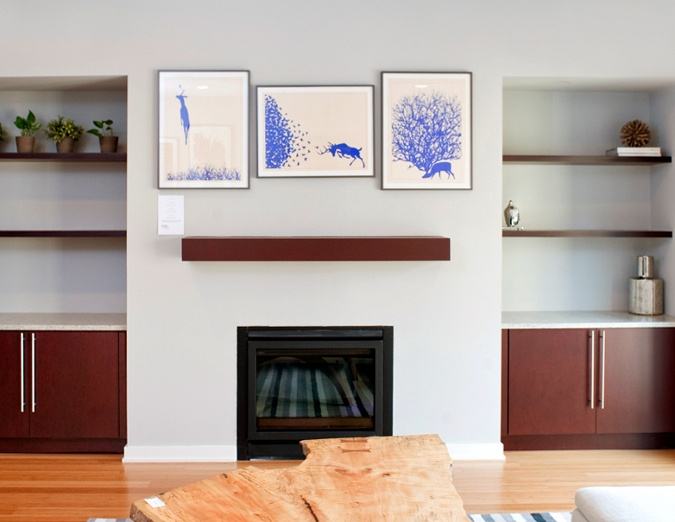 Fireplace With Floating Shelves On Either Side Home Decor Pinterest Shelves Floating