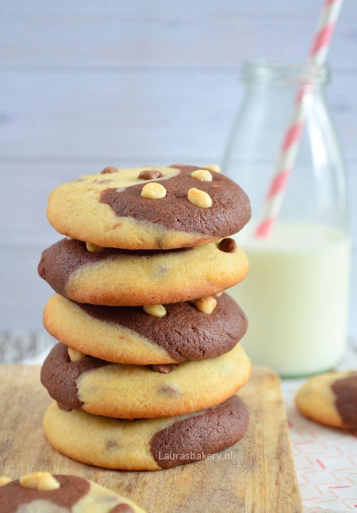 Duo chocolade vanille koekjes