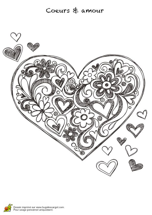 88 best images about motif coeur on pinterest cross stitch love clip art and memory box dies - Coeur a colorier ...
