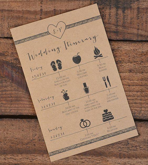 Deze bruiloft activiteiten/evenementen route is perfect voor aanbrengend Welkom zakken om uw gasten weten wat u hebt gepland te laten! U kunt: