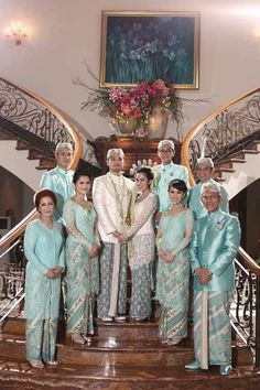 soft blue songket wedding indonesia - Google Search