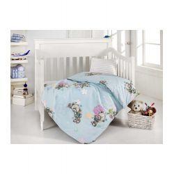 Altınbaşak Bebek Nevresim Takımı Yumak Mavi