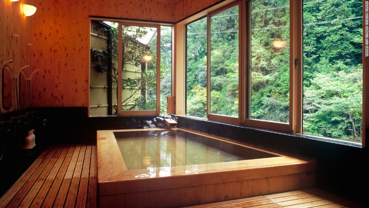 The onsen water at Wakayama's Kamigoten Ryokan is said to have high quantities of sodium bicarbonate, which leaves a silky, soft film on the skin.