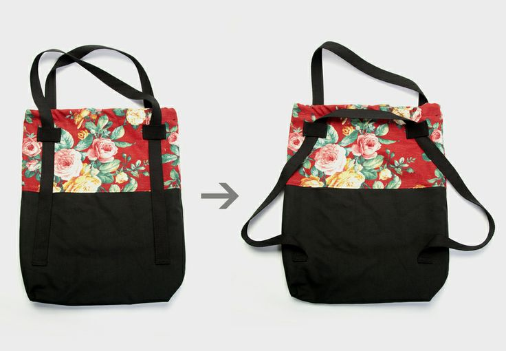 the Smartbag (red floral) by Young Ghosts