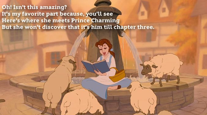 The cool thing about this song lyric from Beauty and the Beast isn't that it sounds cool or has great word choice, it's that it's an awesome bit of foreshadowing that you can't even possibly realize until you watch the movie a second time! Clever, clever.
