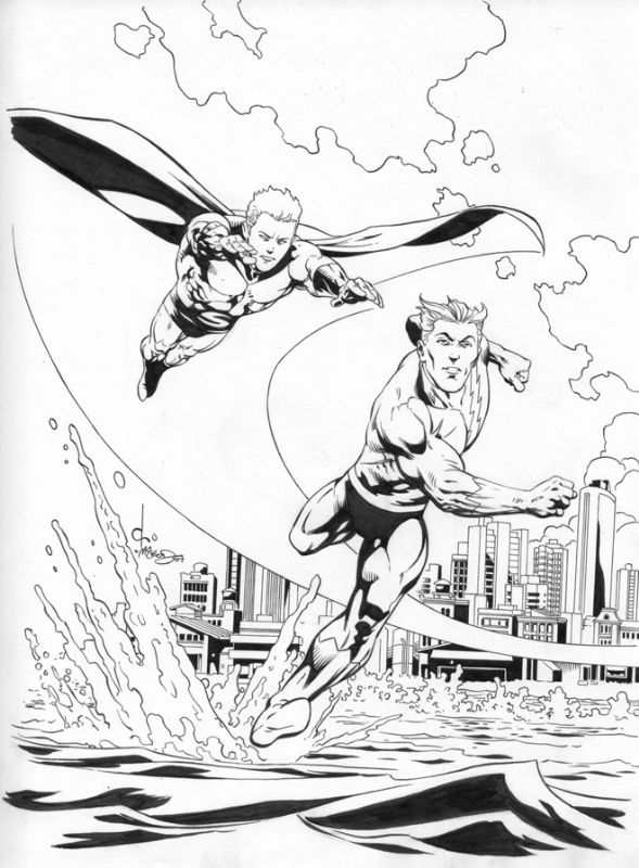 Sentry and Quicksilver Race byDave Ross (Penciller) andBob McLeod (Inker)