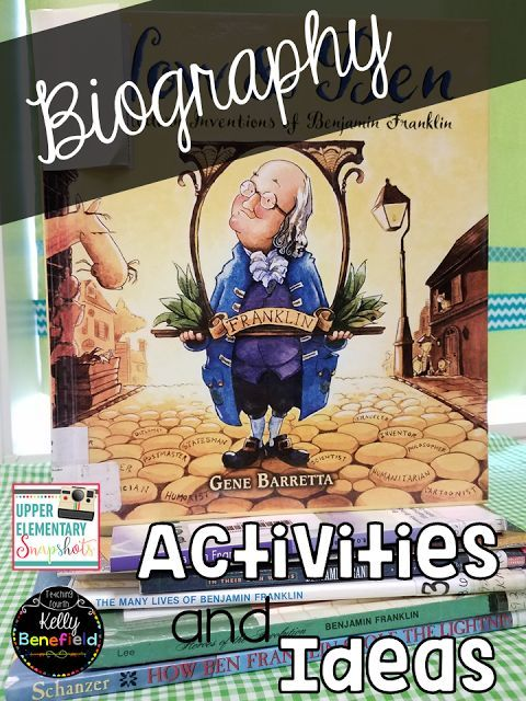 Upper Elementary Snapshots: Teaching Biographies: Activities and Ideas