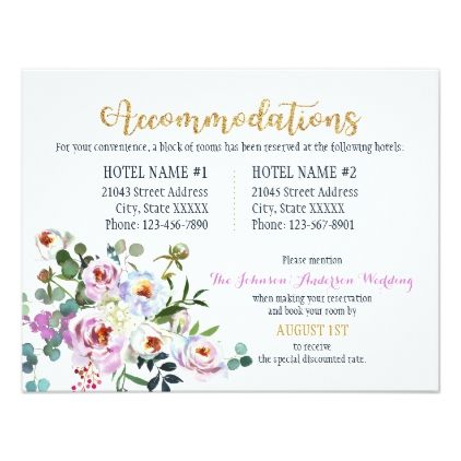 Boho Peonies Floral Modern Accommodations Card - modern gifts cyo gift ideas personalize