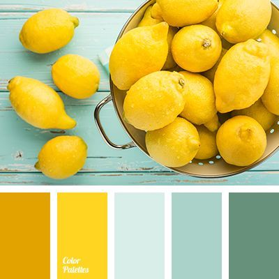color match for wardrobe, color solution for home, dark turquoise, lemon color, pale turquoise, pale-light blue, saffron, shades of lemon colors, shades of turquoise, shades of yellow.