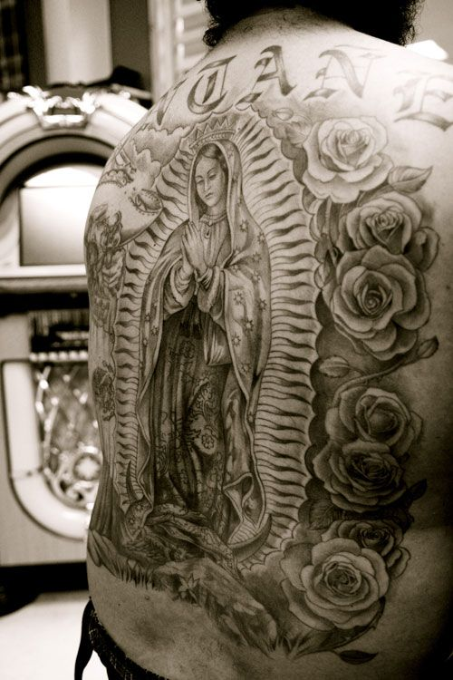 virgin mary tattoo smaller to cover my jack daniels label look alike ink pinterest. Black Bedroom Furniture Sets. Home Design Ideas