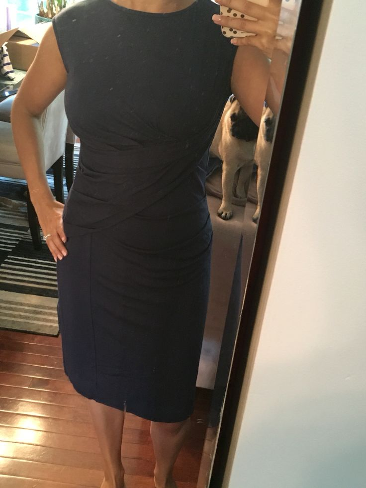 Most comfortable dress from stitch fix! Love this for work. Kut from the kloth mollee knit dress