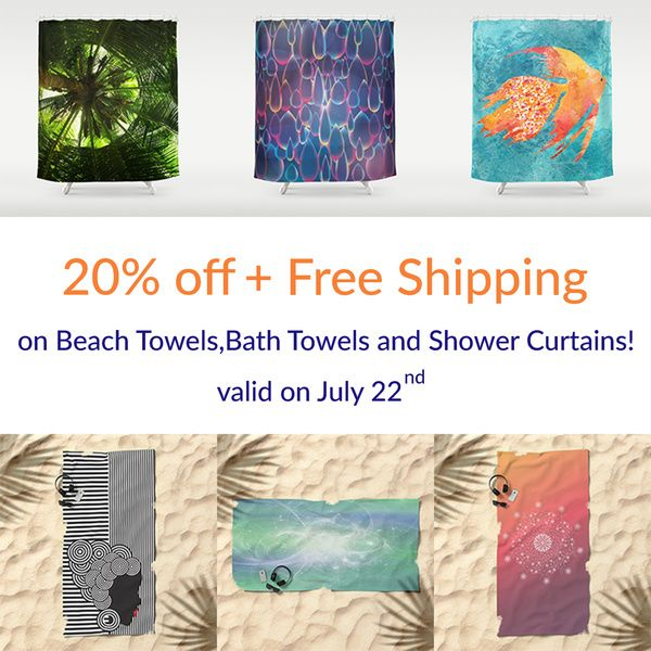 PROMO - 20% OFF + FREE Shipping on Towels and Shower Curtains