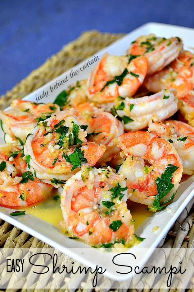 Easy Shrimp Scampi - Lady Behind the Curtain