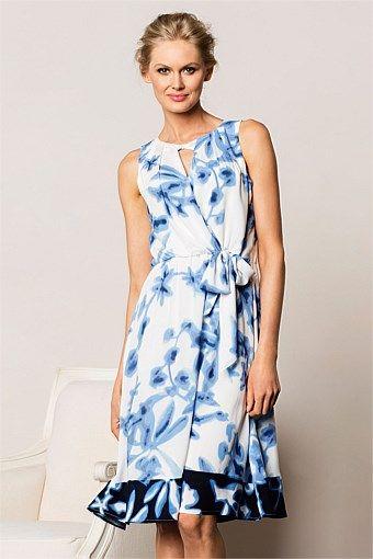 Women's Dresses - Grace Hill Floral Print Dress - EziBuy Australia