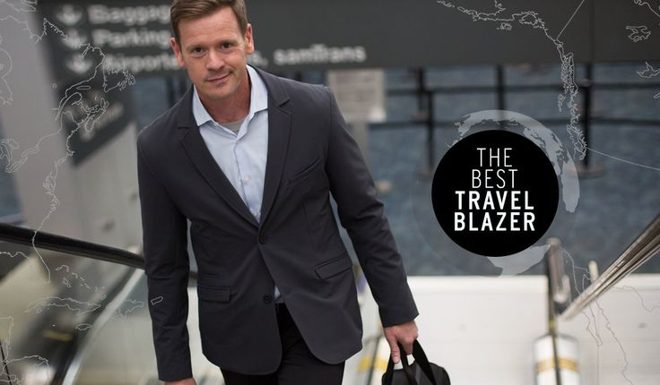 Men's Wrinkle-Resistant Travel Blazer