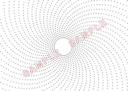 Plotadots - set of four - Sunburst Grids by Lacebobbins on Etsy