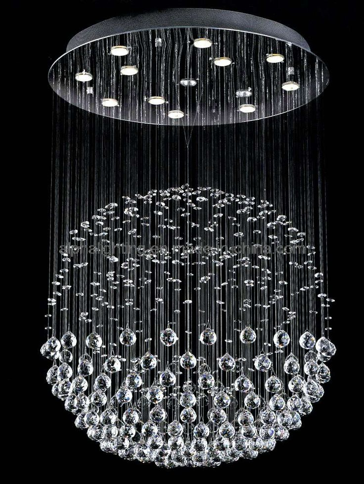 Modern Unique Rain Drop Crystal Chandelier With Led System On The Top