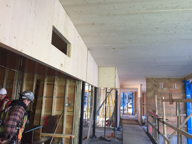 Indian Residential School History and Dialogue Centre, CLT wall panels, roof panels, and framed walls