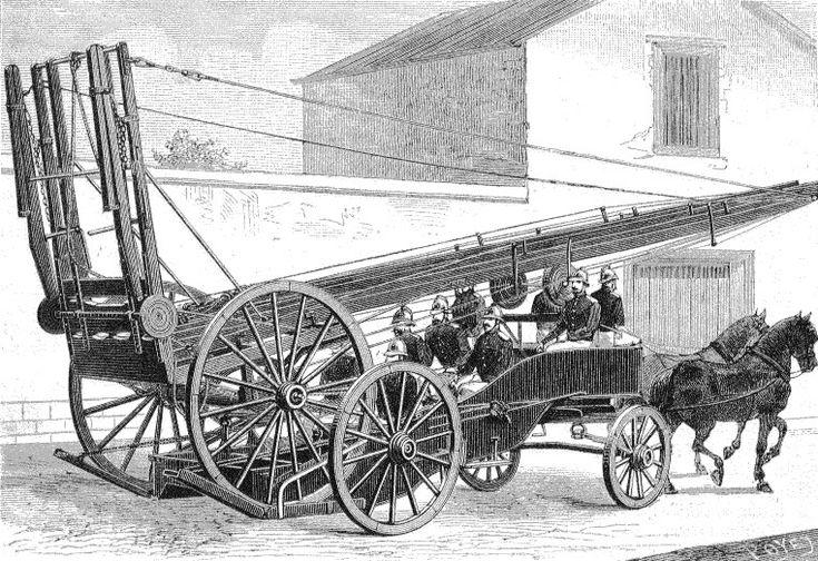 Echelle Bayley sur chariot de transport