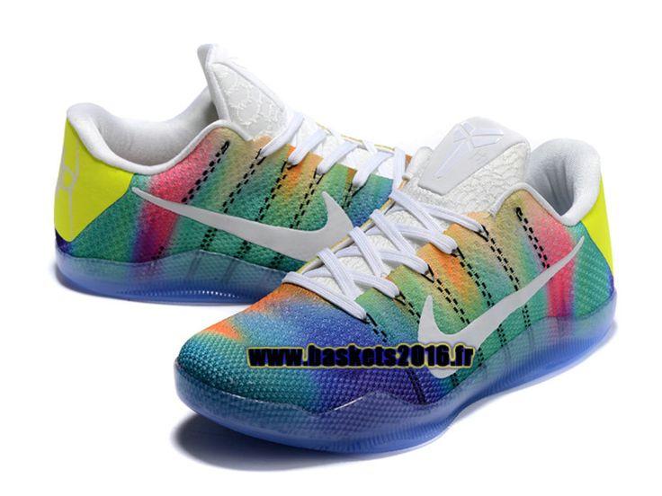 Nike Kobe 11 Elite Low Chaussures Nike Baskets 2016 Pas Cher Pour Homme Bleu / vert / blanc