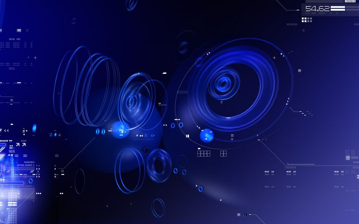 3840x2400 Wallpaper blue, black, abstract, white, circles, numbers