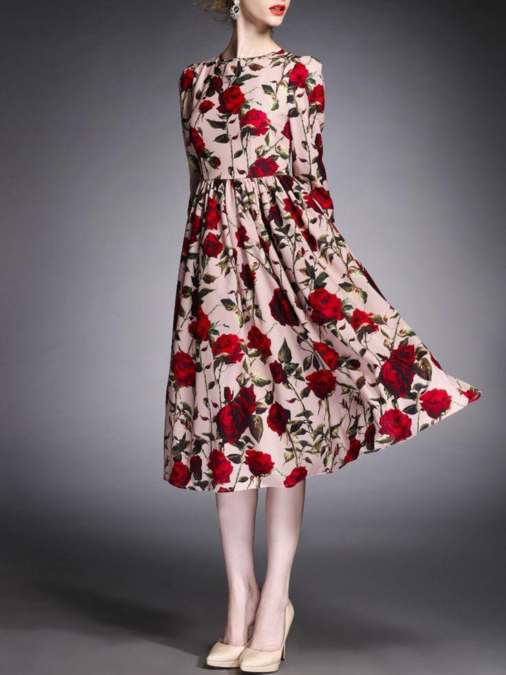 dress c u t + s t y l e Floral-print Midi Dress