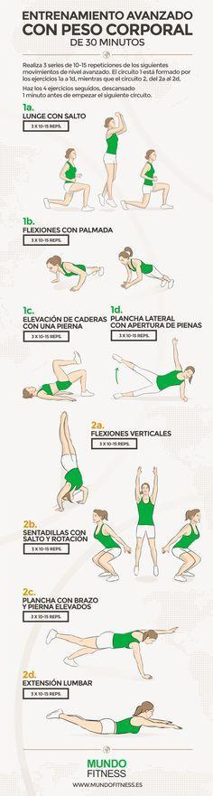 Rutina de entrenamiento avanzado de 30 minutos con peso propio   Blog Mundo Fitness