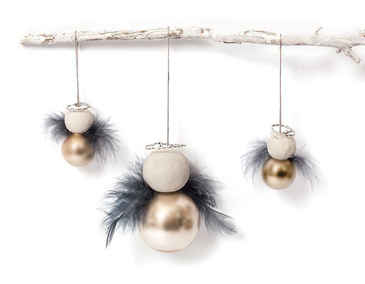 Instruções: Faça anjos com bolas de Natal   – DIY Weihnachtsbaumschmuck ♡ Wohnklamotte