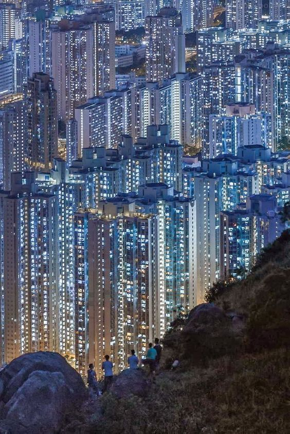 The gorgeous Hong Kong cityscape.