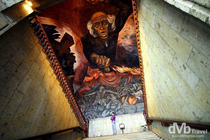 Guadalajara, Mexico | dMb Travel - Travel with davidMbyrne.com | The José Clemente Orozco mural of Miguel Hidalgo in the Placio de Gobierno, Guadalajara, Mexico.