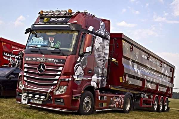 customized MB ACTROS truck