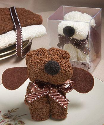 Puppy Dog Towel Favor