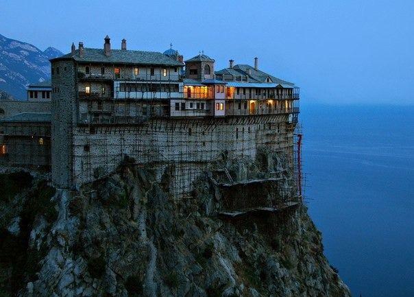 Монастырь на горе Афон,Греция