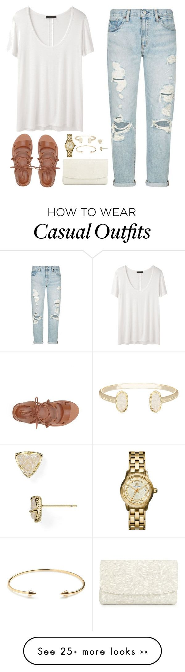 """""""Casual in ripped jeans"""" by classycathleen on Polyvore"""