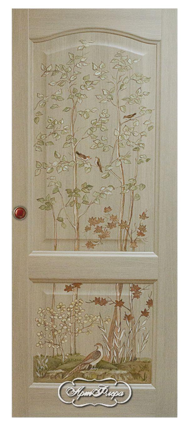 "Дверь  ""Деревца"" http://www.artflera.ru/image/tid/3"
