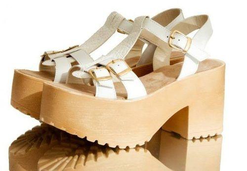 sandalias.zapatos.con plataforma de madera verano 2015!!!