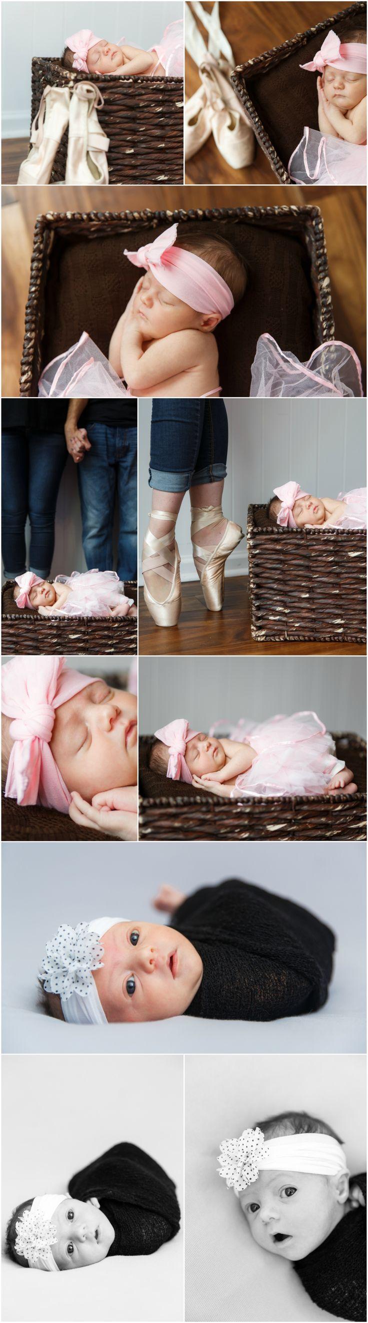 Newborn Photography Ideas and Inspiration   Newborn Poses   Denver Newborn Photographers   Newborn Ballerina Portraits
