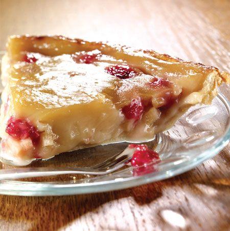 Tarte au sirop d'érable, aux pommes et aux framboises - Pommes Qualité Québec, Recette