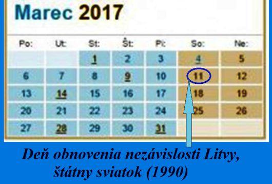 Dnes je Deň obnovenia nezávislosti Litvy, štátny sviatok (1990)