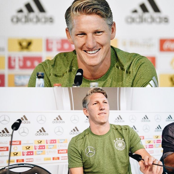 """285 Likes, 2 Comments - DFB-Team (@germany_nt) on Instagram: """"Schweinsteiger's last ever press conference for the national team today. #ServusBasti #germany…"""""""