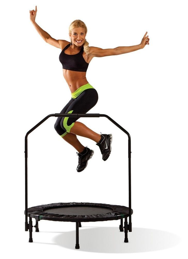 Small Indoor Trampoline Aerobic Exercise Yoga Cardio Workout Trainer Fitness Gym