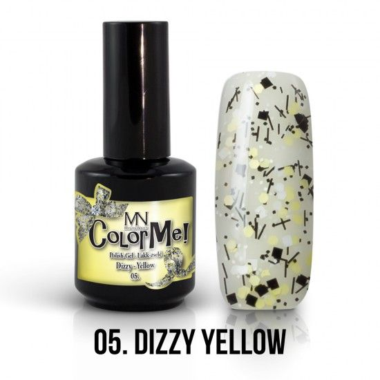 ColorMe! Dizzy no.05. - Dizzy Yellow 12ml gel polish lakkzselé gél lakk nail art mystic nails