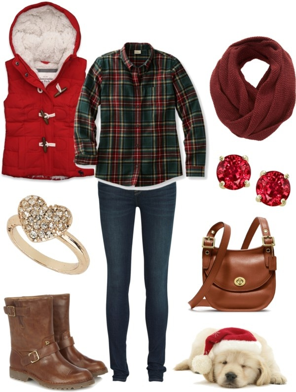 """""""Cute and comfy Christmas Winter Outfit"""" by natihasi on Polyvore"""