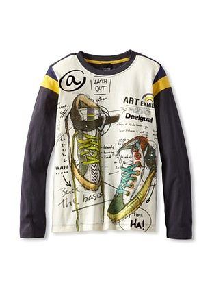 55% OFF Desigual Boy's Raglan T-Shirt (Grey)