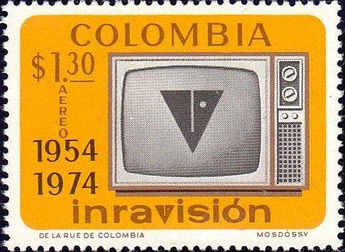 Bélyeg: Television Set (Kolumbia) (20th Anniv. Of Colombian Television) Mi:CO 1265,Sn:CO C595