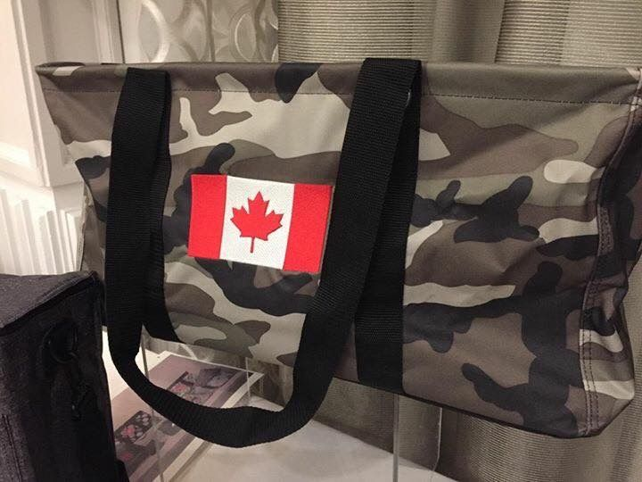 Large Utility Tote in camo.